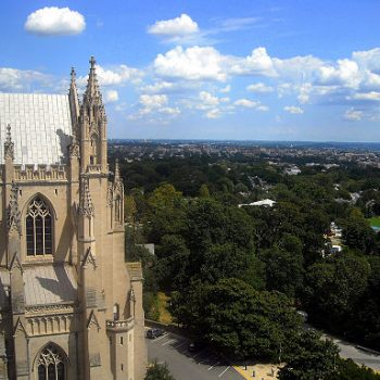 photo by AgnosticPreachersKid https://commons.wikimedia.org/wiki/File%3AWashington_National_Cathedral_-_bell_tower_view.jpg is licensed under CC BY-SA 3.0