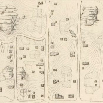 Crop of Viele's Survey for Central Park showing map of Seneca Village